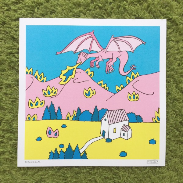 dragon -  print - sanz i vila